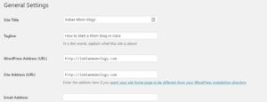 General WordPress Blog Settings